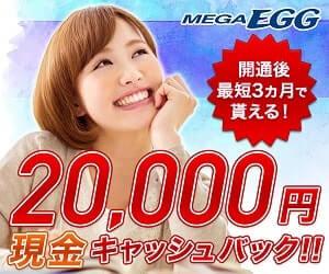 メガエッグの申込みで2万円キャッシュバック