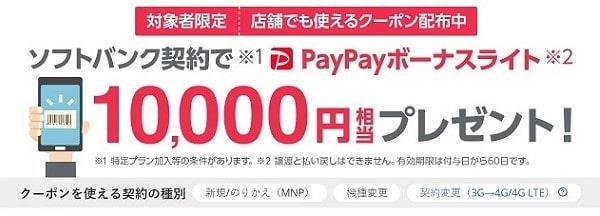 10000円分のpaypayボーナスライトが貰えるキャンペーン