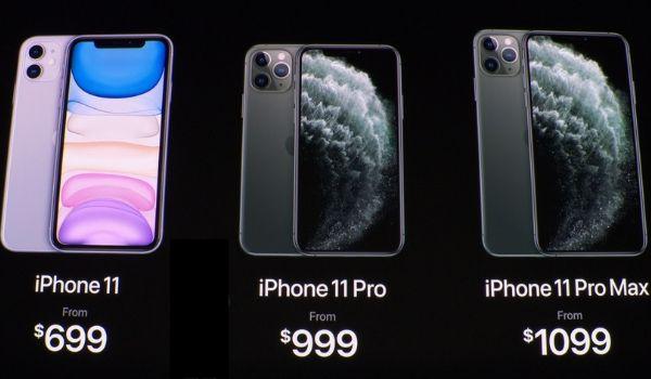 新発売のiPhone11やPro MAXの画像
