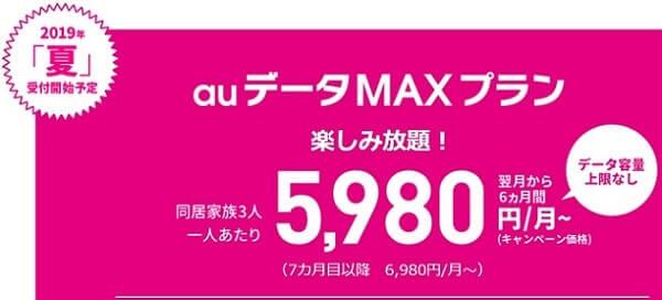 auデータMAXプランは月額8980円