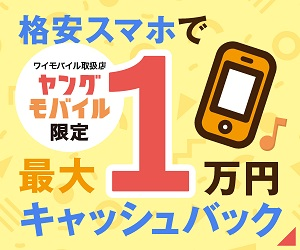 ワイモバイル代理店のヤングモバイルなら最大1万円還元
