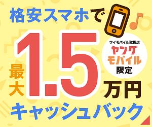 ワイモバイルのP30 liteなら15000円キャッシュバック
