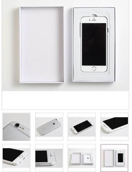 iPhone中古販売は本体のみで付属品なし