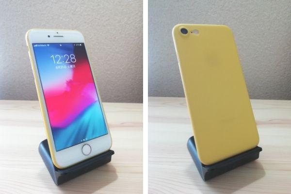 1790円のiPhone8ケース正面