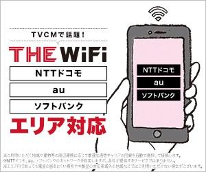 加藤浩次さんCMで有名なTHE WiFi