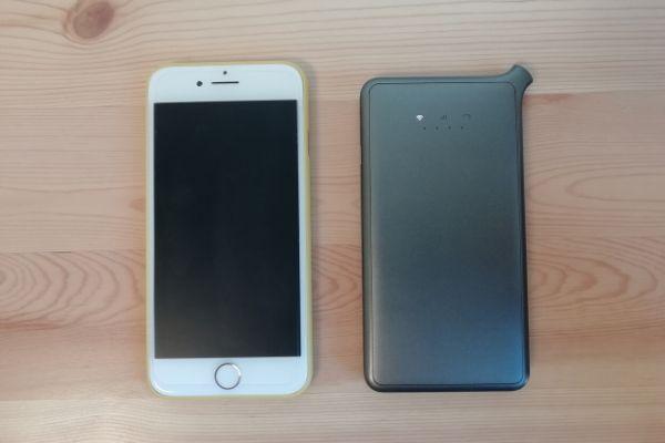 クラウドWiFiとiPhone8の比較