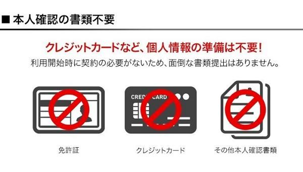 SIMプランなら免許証やクレジットカードも不要