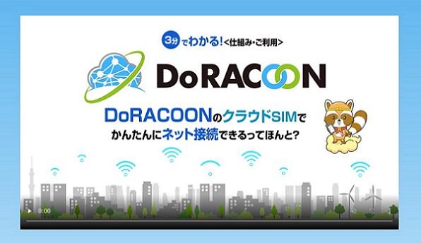 DoRACOONの公式サイト動画